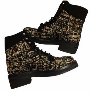 Chanel Tweed Boots